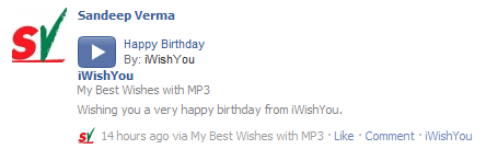My Best Wishes with MP3 on Facebook