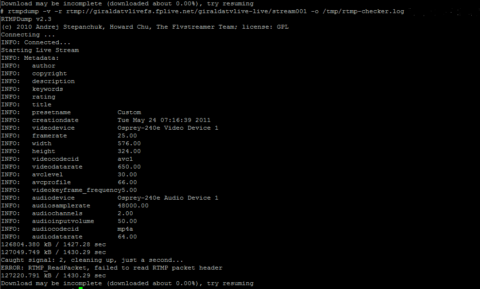 RTMP Output