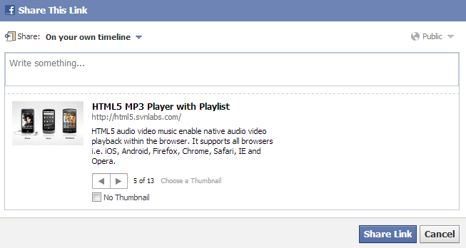 Sharing to Facebook with OG tags via an iFrame embed | HTML5 Player