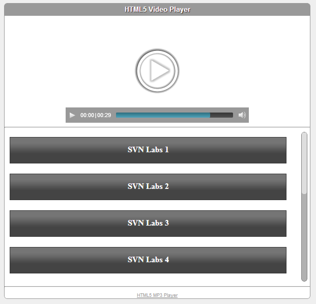 Amazon CloudFront HTML5 Video Player with Playlist | HTML5