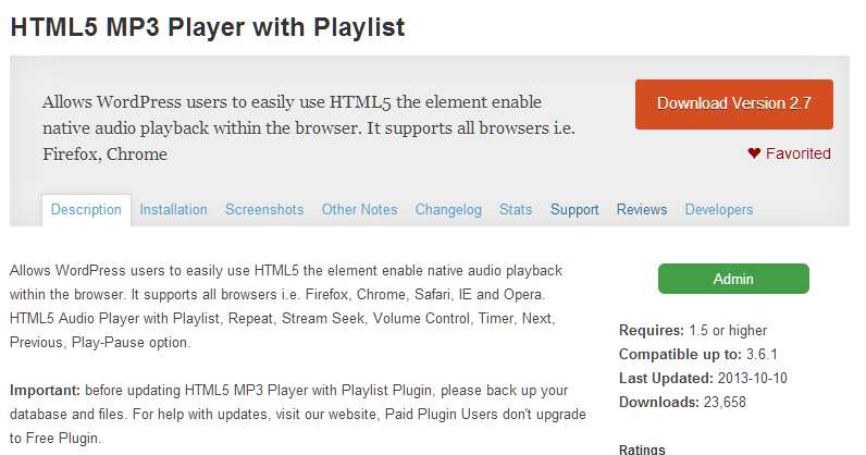 How to update html5 player-7058