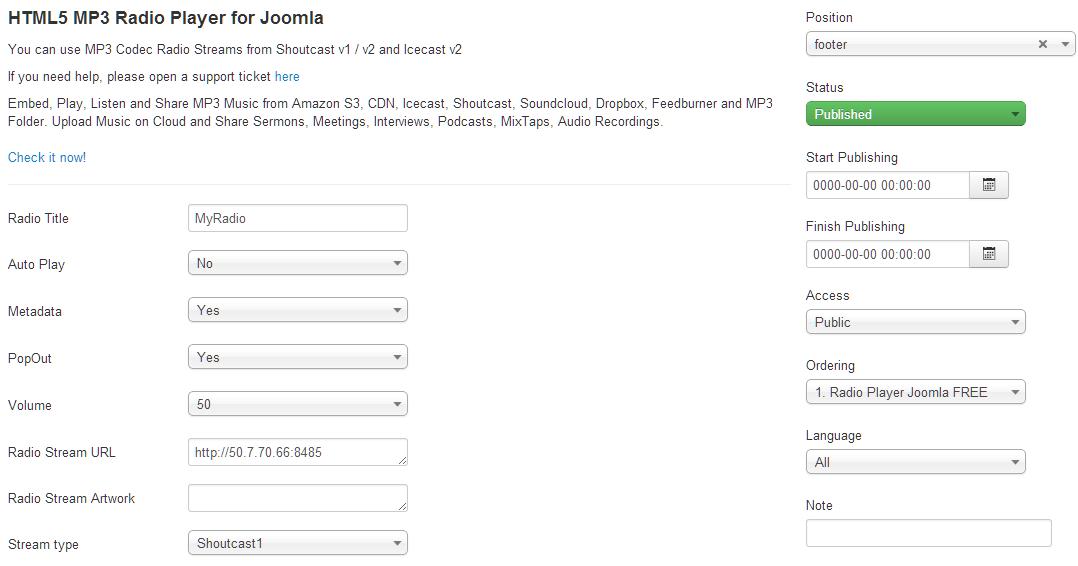 HTML5 MP3 Radio Stream Player for Joomla   HTML5 MP3 Player